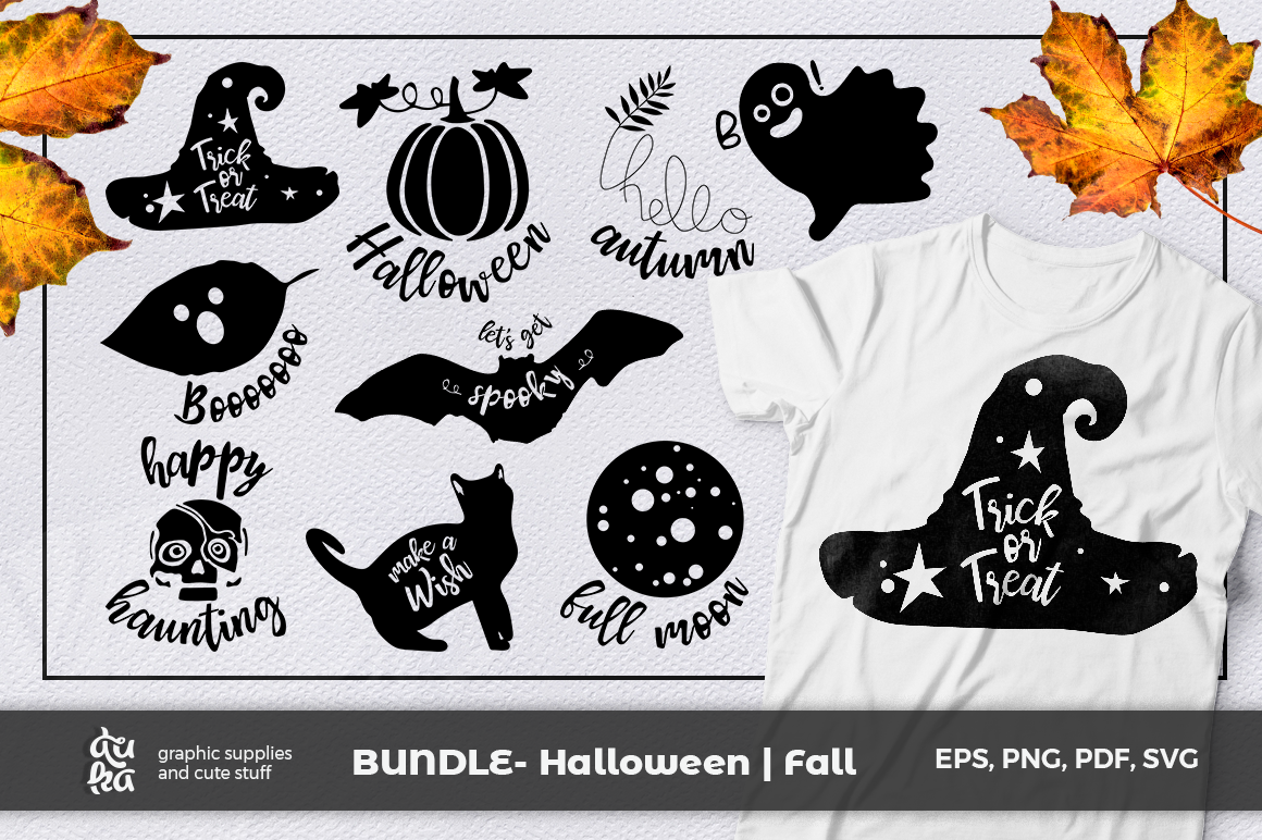 Download Free Halloween Fall Graphic By Duka Creative Fabrica for Cricut Explore, Silhouette and other cutting machines.