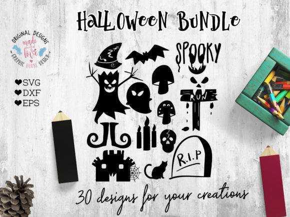 Print on Demand: Halloween Icons Graphic Icons By GraphicHouseDesign - Image 2