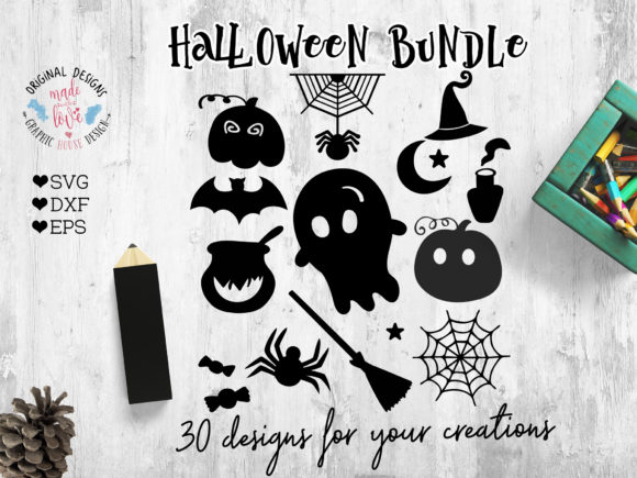 Print on Demand: Halloween Icons Graphic Icons By GraphicHouseDesign - Image 1