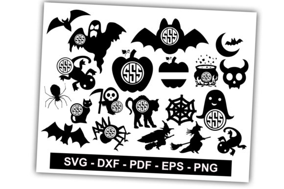Download Free Halloween Monogram Pack Graphic By Svgbundle Net Creative Fabrica SVG Cut Files