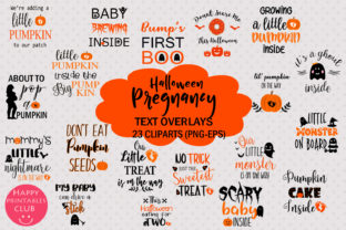 Halloween Pregnancy Text Overlay Clipart Graphic By Happy Printables Club