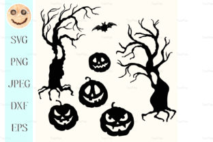 Download Free Halloween Pumpkin Lantern Graphic By Tasipas Creative Fabrica for Cricut Explore, Silhouette and other cutting machines.