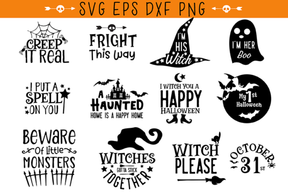 Halloween Quotes Bundle Graphic Crafts By carrtoonz - Image 2