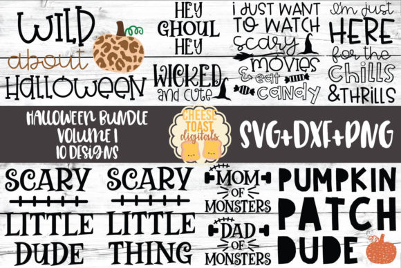 Download Free Halloween Svg Bundle Vol 1 10 Designs Graphic By for Cricut Explore, Silhouette and other cutting machines.