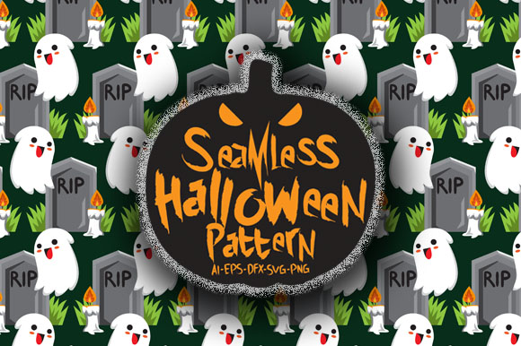 Download Free Halloween Seamless Patterns 12 Graphic By Bayu Baluwarta for Cricut Explore, Silhouette and other cutting machines.