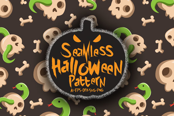 Download Free Halloween Seamless Patterns 37 Graphic By Bayu Baluwarta for Cricut Explore, Silhouette and other cutting machines.