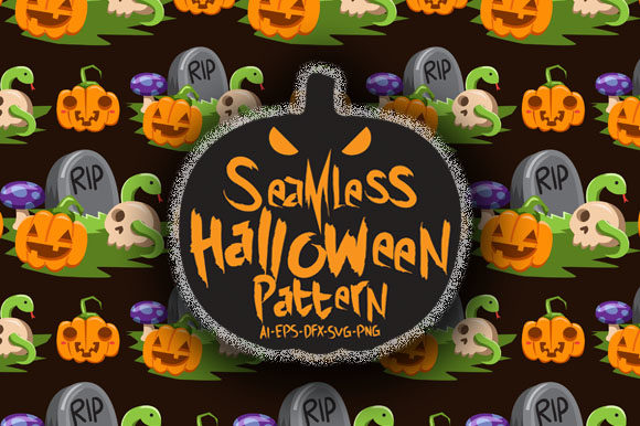 Download Free Halloween Seamless Patterns 6 Graphic By Bayu Baluwarta for Cricut Explore, Silhouette and other cutting machines.