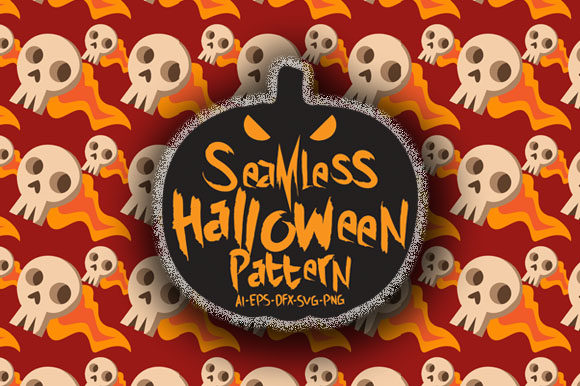 Print on Demand: Halloween Seamless Patterns 39 Graphic Patterns By Bayu Baluwarta - Image 1