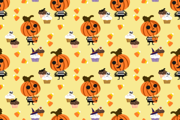 Halloween Pumpkin Cartoon and Candy Graphic By thanaporn.pinp