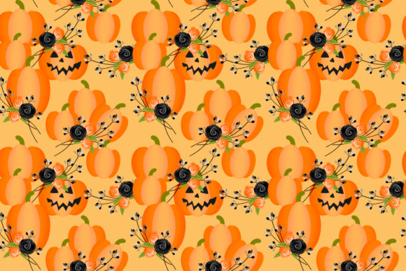 Download Free Cute Halloween Seamless Pattern Grafik Von Thanaporn Pinp for Cricut Explore, Silhouette and other cutting machines.