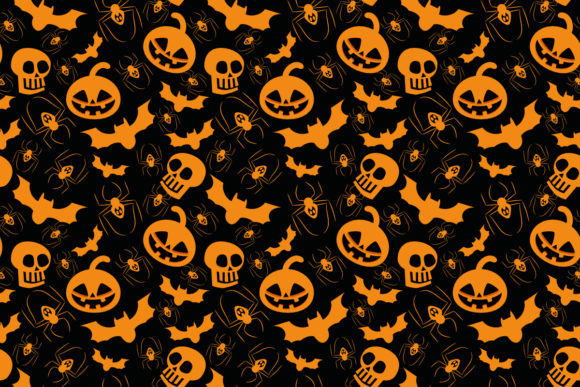 Halloween Seamless Pattern Graphic By Thanaporn Pinp Creative