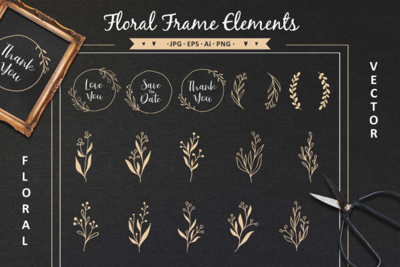 Hand Drawn Floral Collection Graphic Crafts By AllmoStudio