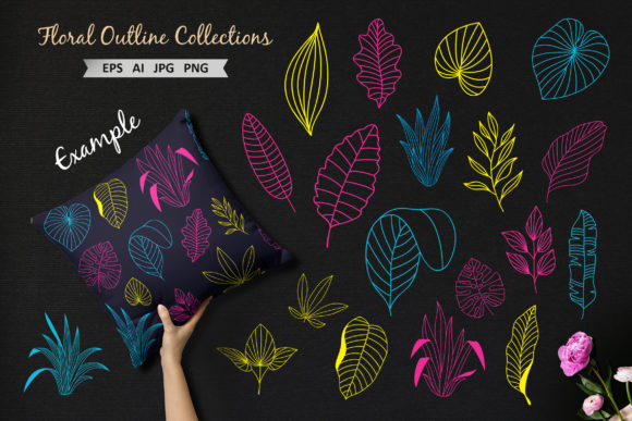 Hand Drawn Floral Vector Collection Graphic Crafts By AllmoStudio