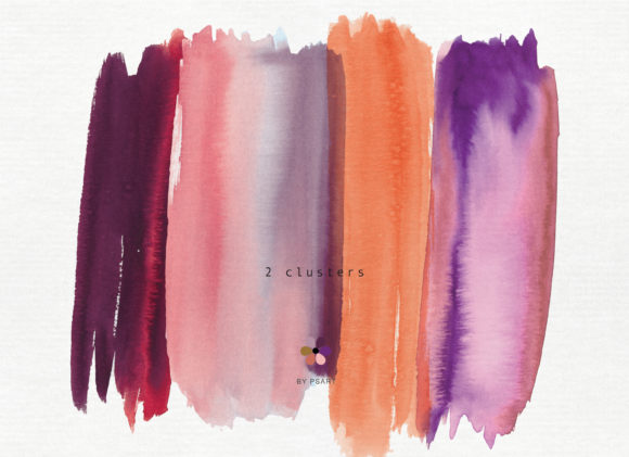 Hand Painted Watercolor Brush Strokes Graphic Textures By Patishop Art - Image 3
