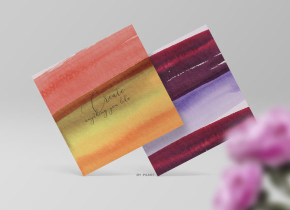 Hand Painted Watercolor Brush Strokes Graphic Textures By Patishop Art - Image 9
