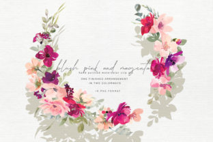 Hand Painted Watercolor Floral Wreath Graphic By Patishop Art