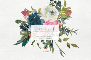 Hand Painted Watercolor Peony Bouquet Graphic By Patishop Art
