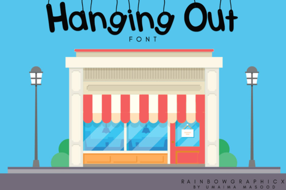 Print on Demand: Hanging out Decorativa Fuente Por RainbowGraphicx