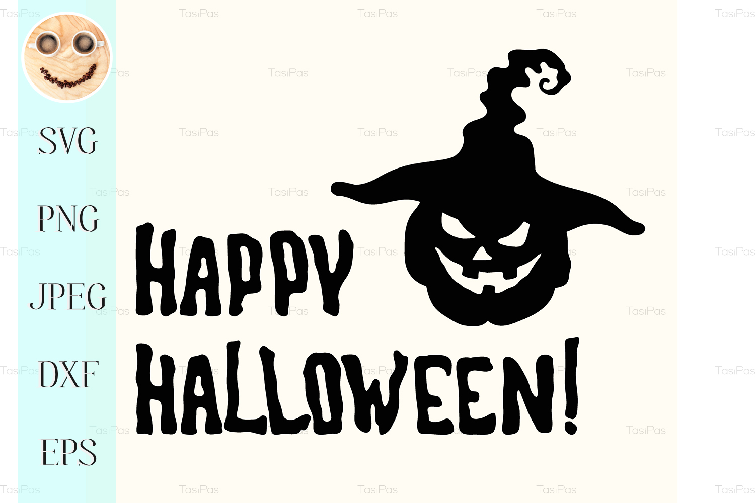 Happy Halloween Title Graphic By Tasipas Creative Fabrica