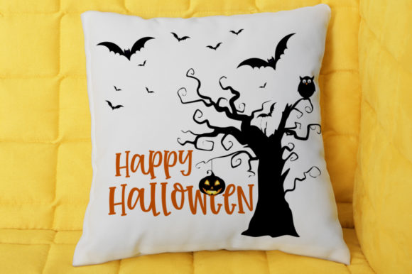 Happy Halloween Tree Graphic By Svgbundle Net Creative Fabrica