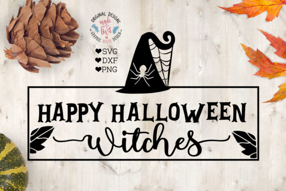 Happy Halloween Witches Graphic Crafts By GraphicHouseDesign - Image 1