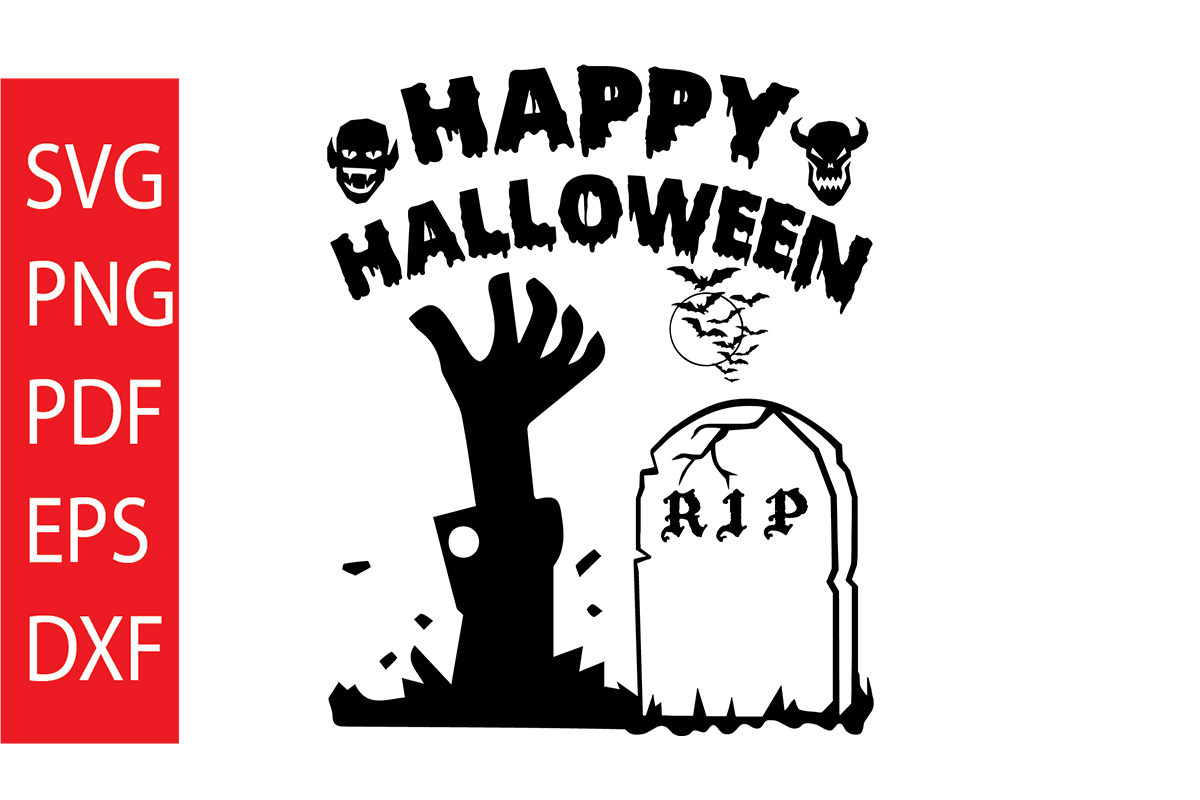 Download Free Happy Halloween Graphic By Dobey705002 Creative Fabrica for Cricut Explore, Silhouette and other cutting machines.