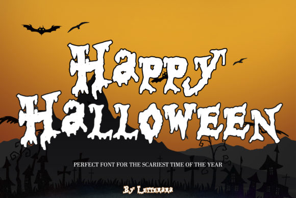 Print on Demand: Happy Halloween Script & Handwritten Font By thomasaradea
