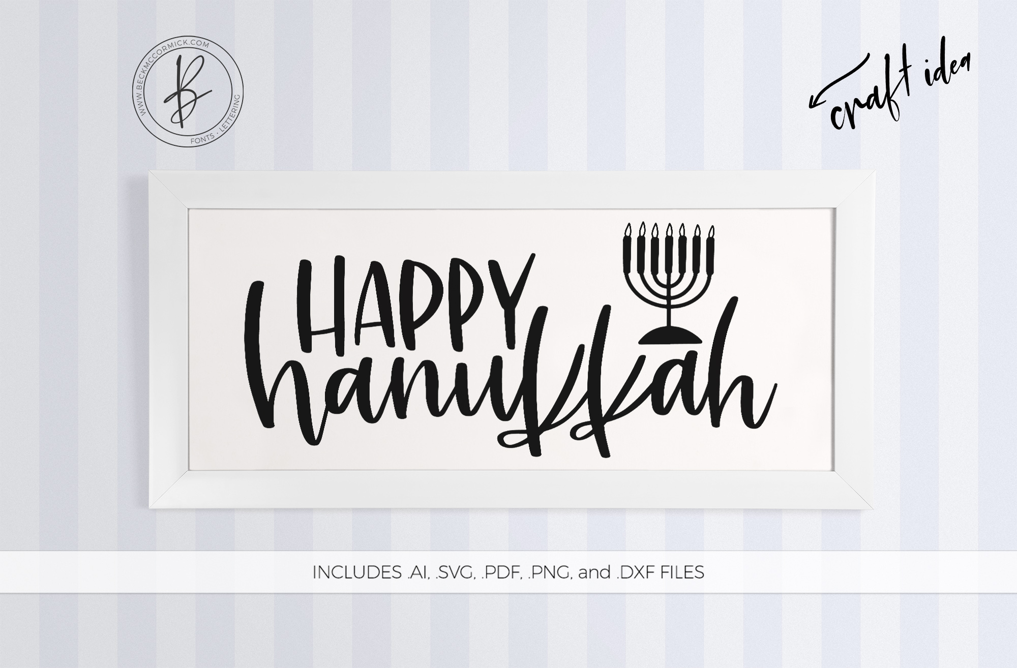 Download Free Happy Hanukkah Graphic By Beckmccormick Creative Fabrica for Cricut Explore, Silhouette and other cutting machines.