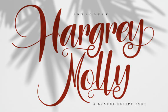 Print on Demand: Hargrey Molly Script & Handwritten Font By Vunira - Image 1