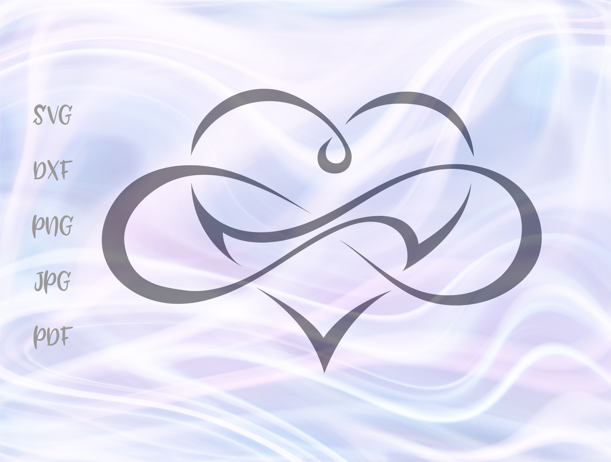 Download Free Heart Infinity Polyamory Sign Graphic By Digitals By Hanna for Cricut Explore, Silhouette and other cutting machines.