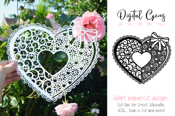 Heart Paper Cut Design Graphic Crafts By Digital Gems