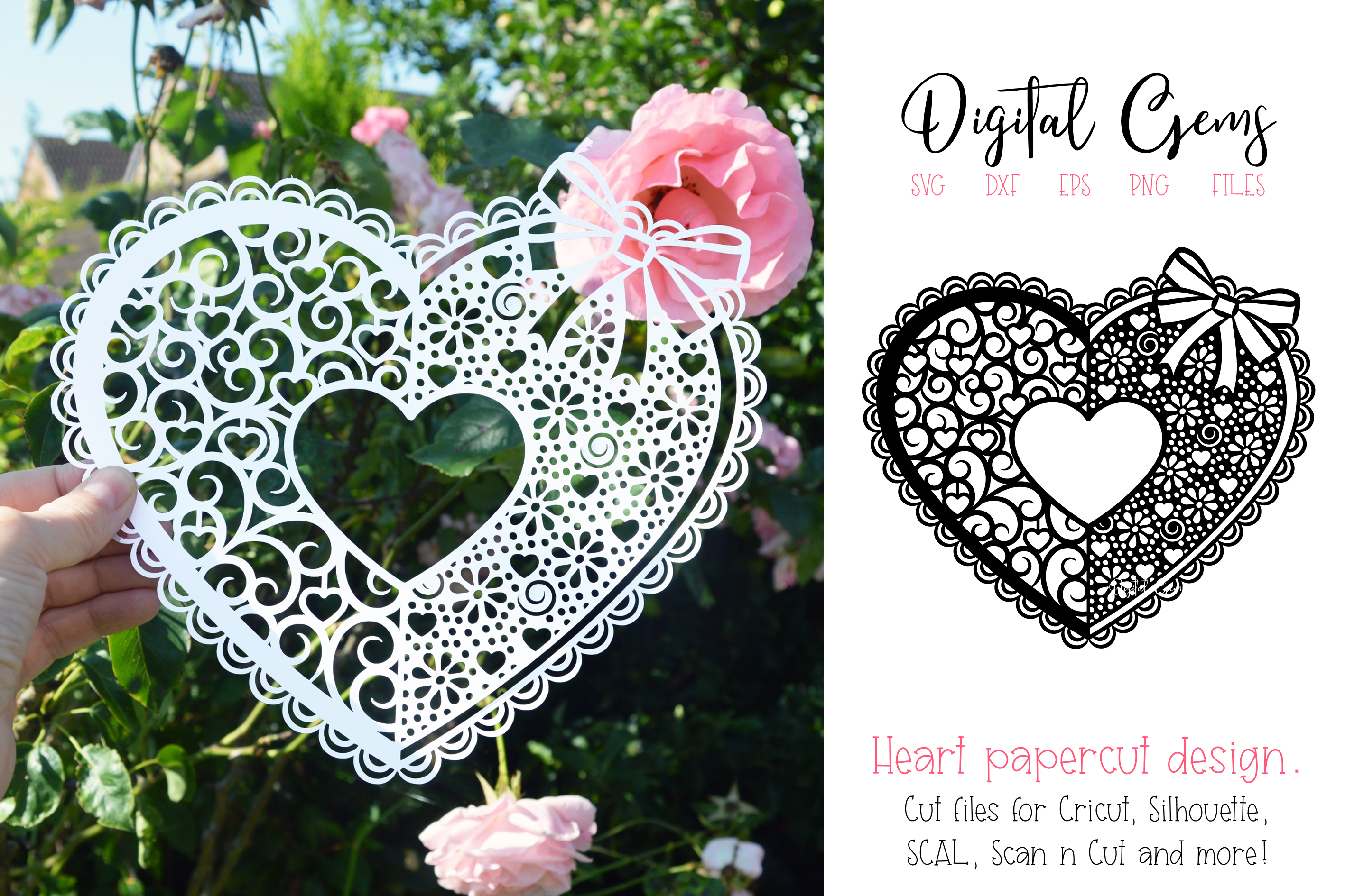 Heart Paper Cut Design Graphic By Digital Gems Creative Fabrica