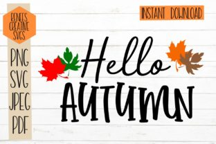 Download Free Hello Autumn Graphic By Reneescreativesvgs Creative Fabrica for Cricut Explore, Silhouette and other cutting machines.