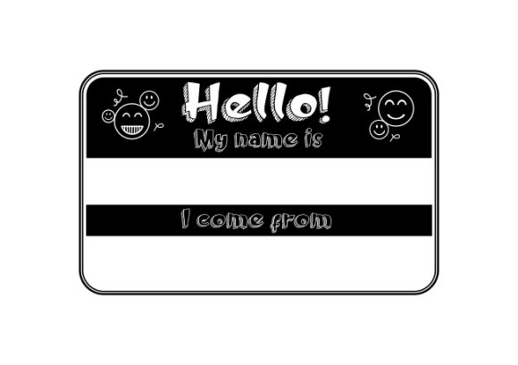 Hello - My Name is... Graphic Crafts By ZetDesign
