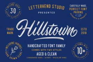 Print on Demand: Hillstown Script & Handwritten Font By letterhend