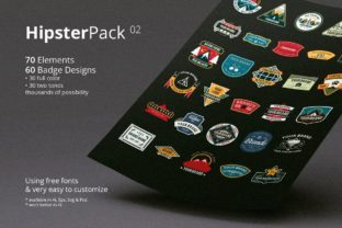 Print on Demand: Hipster Pack 02 Graphic Logos By ihsankl