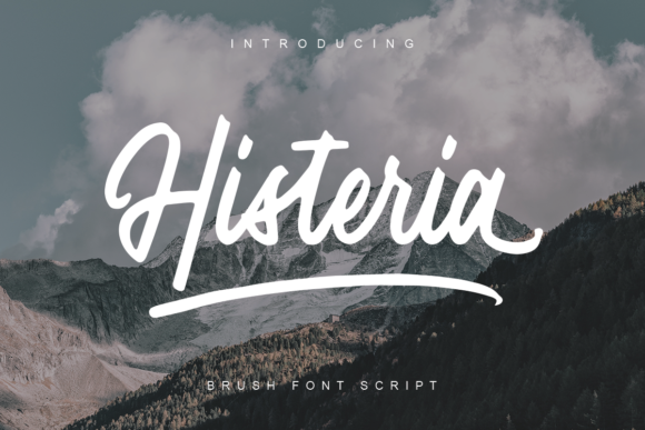 Print on Demand: Histeria Script Script & Handwritten Font By Geranium.co - Image 1