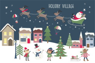 Holiday Village Graphic By poppymoondesign