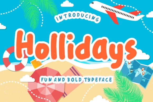 Print on Demand: Hollidays Display Font By CreatypeStudio - Image 1