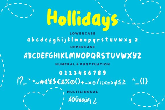 Print on Demand: Hollidays Display Font By CreatypeStudio - Image 7