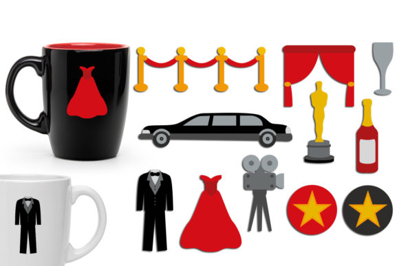 Print on Demand: Hollywood Award Party Graphic Illustrations By Revidevi
