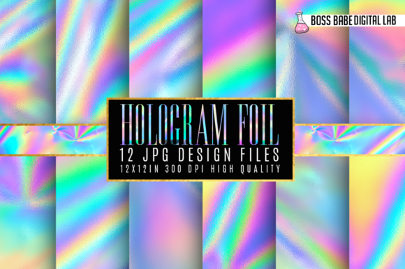 Print on Demand: Hologram Foil Textures Graphic Textures By bossbabedigitallab