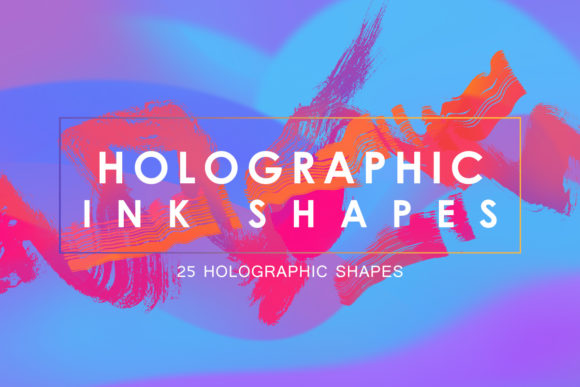 Print on Demand: Holographic Ink Shapes Graphic Objects By freezerondigital