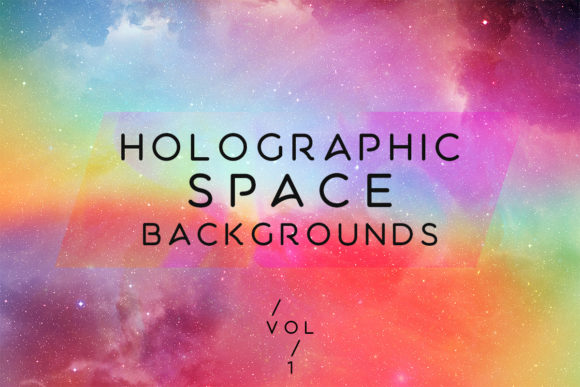 Holographic Space Backgrounds Vol.1 Graphic By freezerondigital Image 1