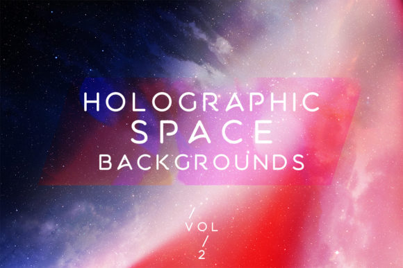 Print on Demand: Holographic Space Backgrounds Vol.2 Graphic Backgrounds By freezerondigital