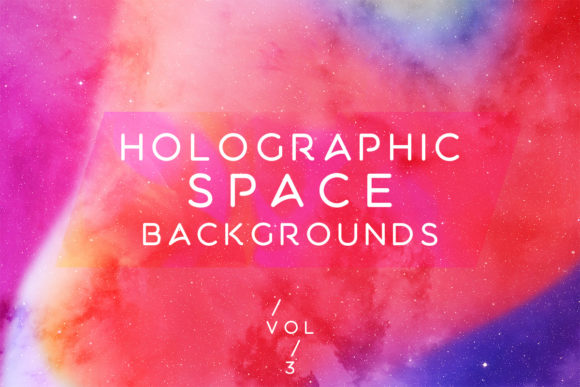 Print on Demand: Holographic Space Backgrounds Vol.3 Graphic Backgrounds By freezerondigital