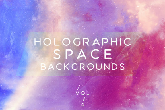 Print on Demand: Holographic Space Backgrounds Vol.4 Graphic Backgrounds By freezerondigital