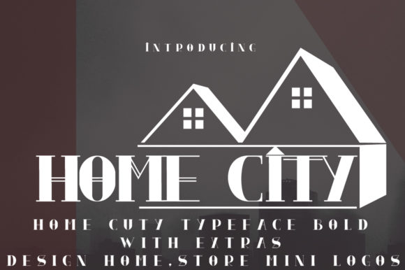 Print on Demand: Home City Display Font By jehansyah251