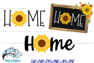 Home Sunflower Fall Graphic By WispyWillowDesigns