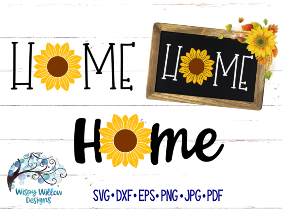 Home Sunflower Fall Graphic Crafts By WispyWillowDesigns